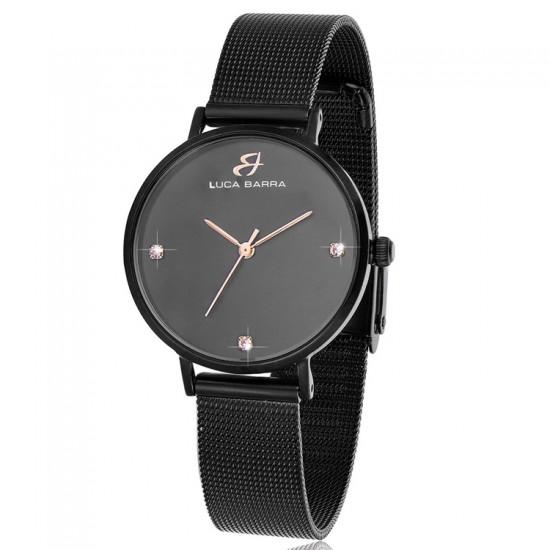 Bracelet steel watch with black plate  BW209