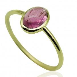 Δαχτυλίδι χρυσό Κ14 με ορυκτή πέτρα τουρμαλίνη 196144