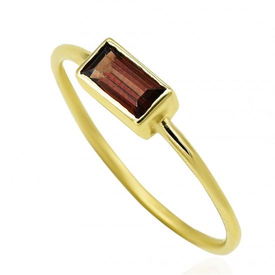 Δαχτυλίδι χρυσό Κ14 με ορυκτή πέτρα τουρμαλίνη 196384