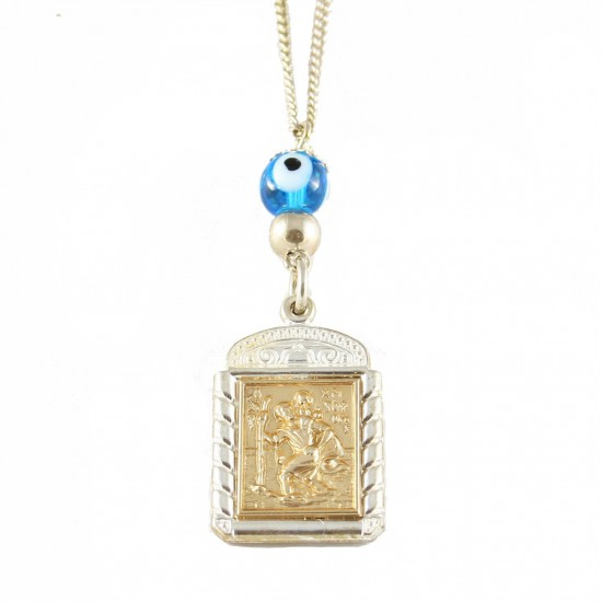 Saint Christopher Silver Amplified Gold Plated STCH2