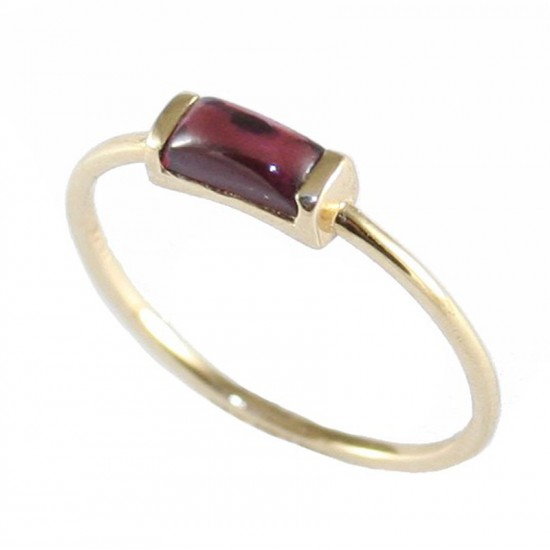Gold K14 ring with tourmaline mineral stone  196151