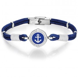 Handcuffs for men with blue cord and anchor BA1106