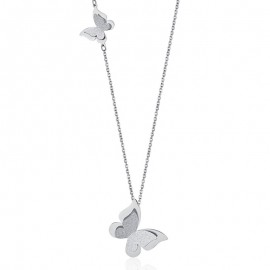 Stainless steel butterfly glitter necklace Chain Length 75 + 5cm CK1385