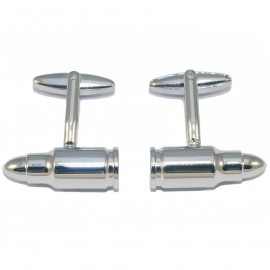 Stainless steel bullet design cufflinks for men MAT120