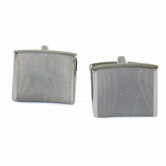 Stainless Steel cufflinks for men in black color MAT126