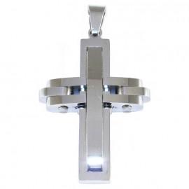 Cross for men in stainless steel