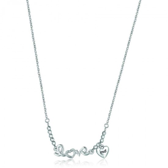 Love stainless steel necklace with heart Chain length  CK1210