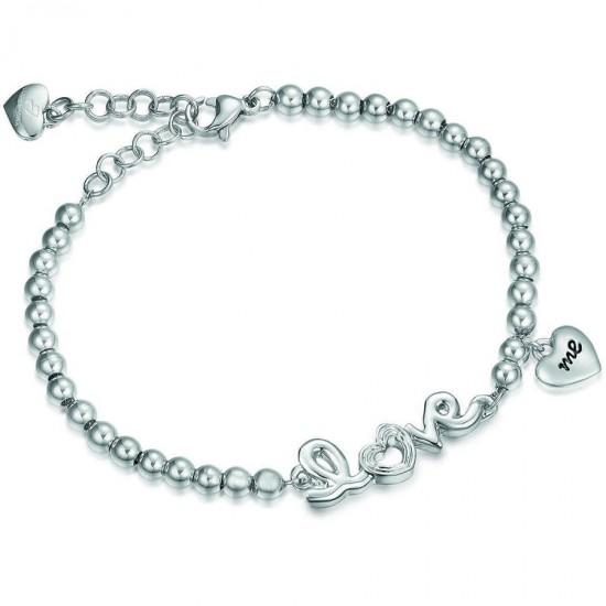 Love stainless steel bracelet with heart BK1507