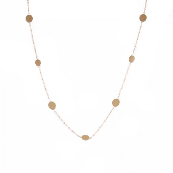 Rose gold K14 necklace with round motif U195195