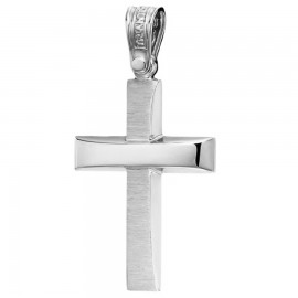 Platinum Cross K14 polished and trimmed for baptism or engagement 1.2.1232