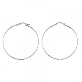 Earrings platinum K14 rings with diameter 4cm 155124