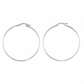 Earrings platinum K14 rings with diameter 4cm 155124