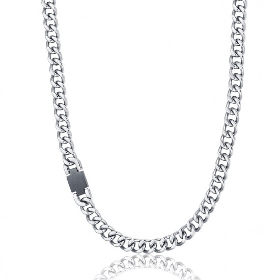 Stainless steel necklace for men Chain Length: 45 + 5 cm CL231