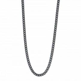 Αλυσίδα για τον άνδρα για τον λαιμό σε χρώμα μαύρο από ανοξείδωτο ατσάλι SC194