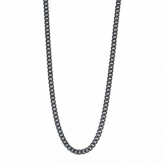 Chain for men for neck in black color stainless steel Chain length 55cm SC194