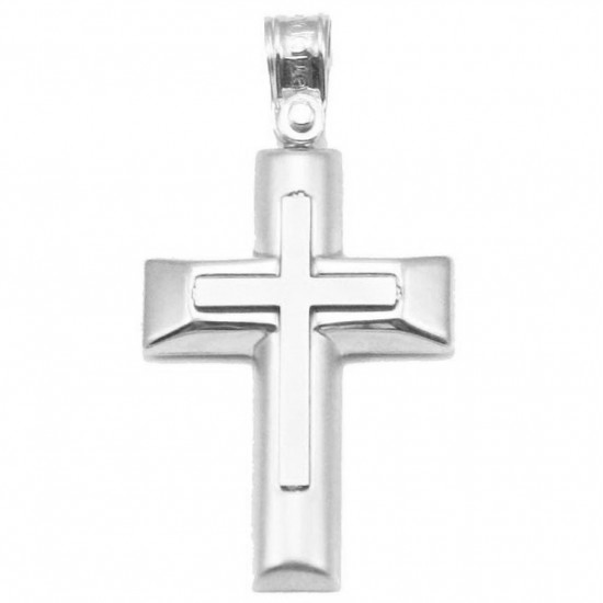 Platinum Cross platinum K14 matte and lustrous for baptism or engagement