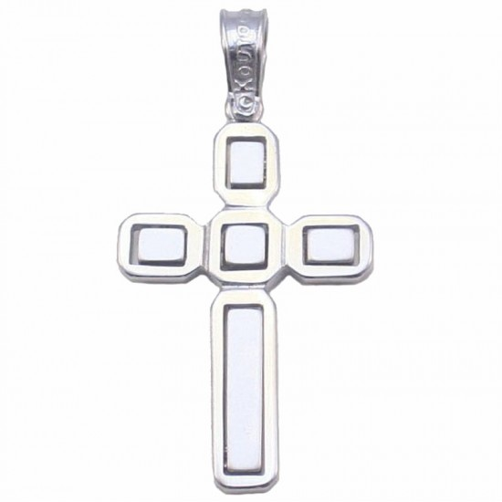 Cross platinum K14 matte and lustrous for baptism or engagement