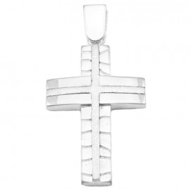 Whitegold Cross K14 with diamond cut tech for-baptism or for engagement