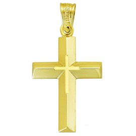 Cross K14 gold polished and matte 34236