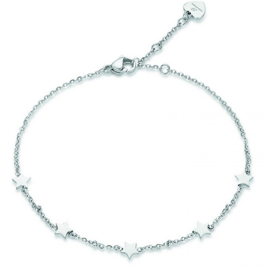 Stainless steel foot chain with stars Strap length 25cm CV107