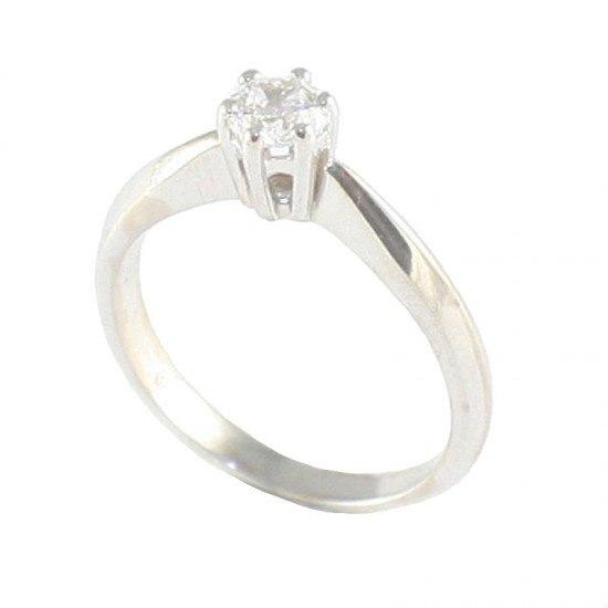 White gold K14 wedding ring with white zircon for wedding proposal or for engagement 3027SW