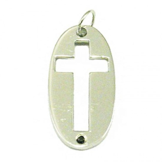 Sterling silver men Cross platinum