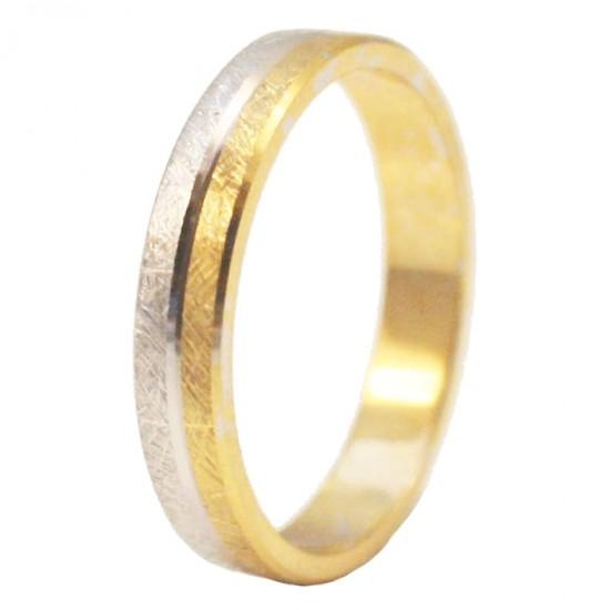 Βέρες χρυσές Κ14 δίχρωμες και λευκόχρυσος σφυρίλατες γάμου ή αρραβώνα σε μεγάλη ποικιλία σχεδίων και χρωμάτων