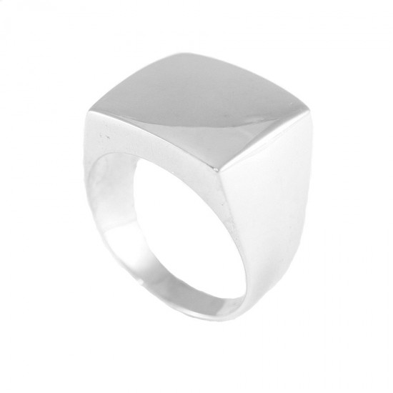 Sterling silver chevalier ring polished for men 9515