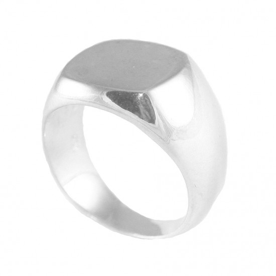 Sterling silver chevalier ring polished for men 7630
