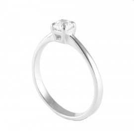 Sterling silver wedding ring with zircon 18715