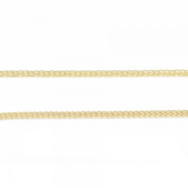 Silver Chain Square Gold Plated Length 45cm 30206
