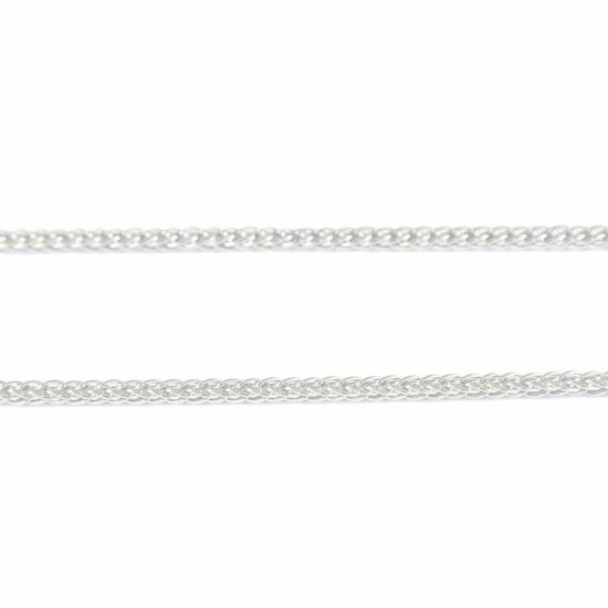 Chain sterling silver sponge square platinum plated 30206W
