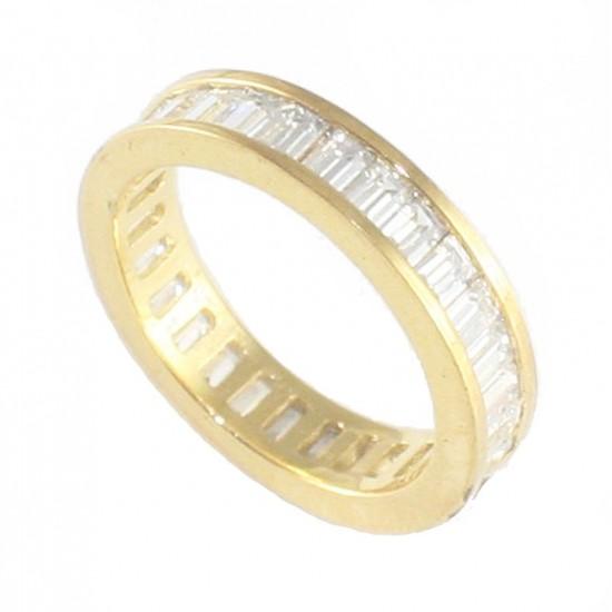 Δαχτυλίδι ασημένιο ολόβερο με με λευκά ζιργκόν παγέτες και επιχρύσωμα RG002