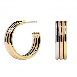 Silver earrings with three colors AR04-065-U