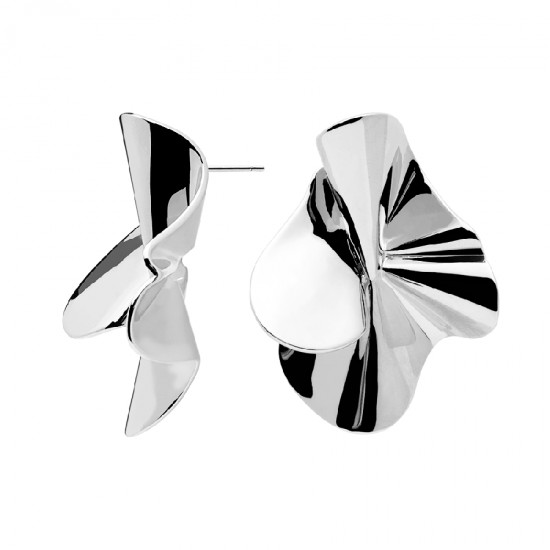 Platinum plated earrings from the collection Nomad by Pdpaola AR02-076-U