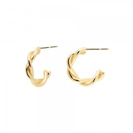 Earrings silver rings with braid design  AR01-206-U