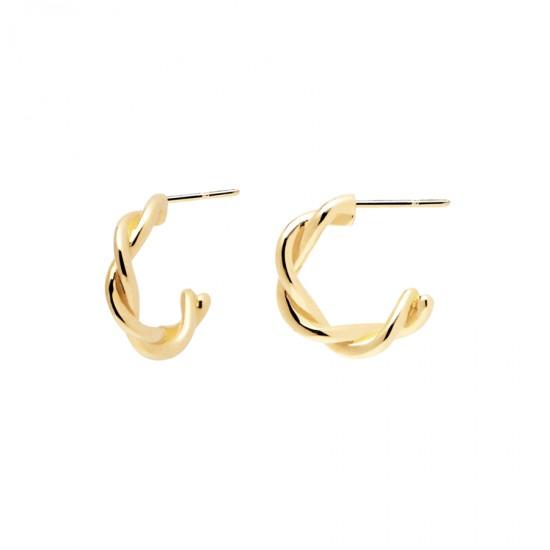 Earrings silver rings with braid design  AR01-206-U