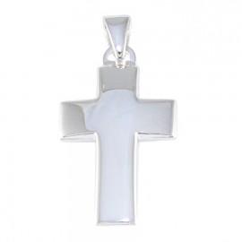 Σταυρός ασημένιος λουστραριστός 44132