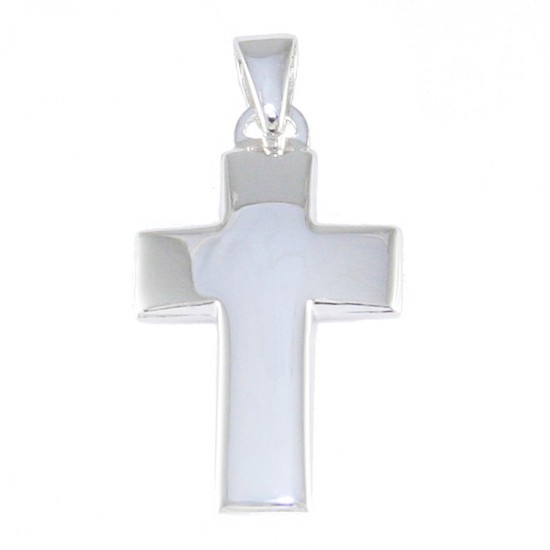 Sterling silver Cross polished 44132