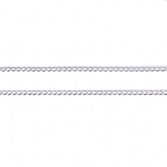 Αλυσίδα ασημένια πλακέ λουστραριστή 80514