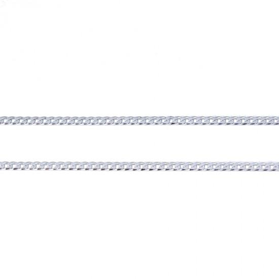 Αλυσίδα ασημένια πλακέ λουστραριστή 725125