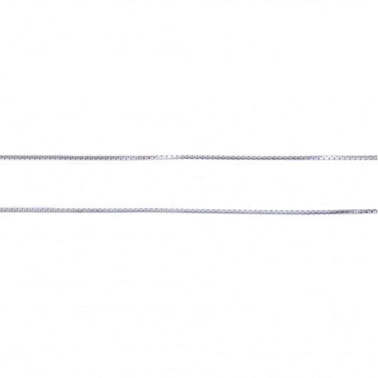 Αλυσίδα ασημένια τετράγωνη επιπλατινωμένη 180310