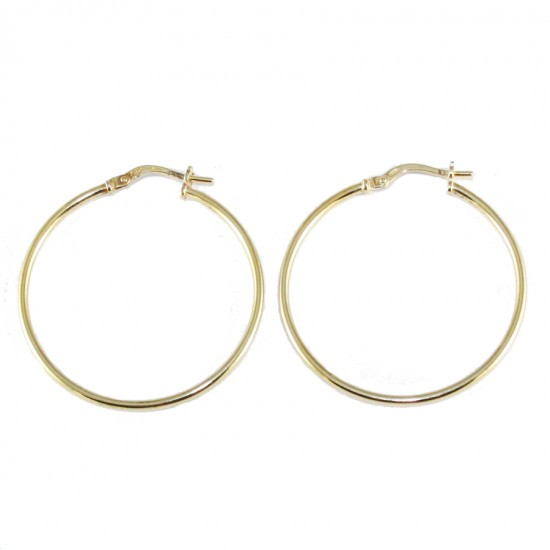 Sterling silver earrings ring gold plated 2472