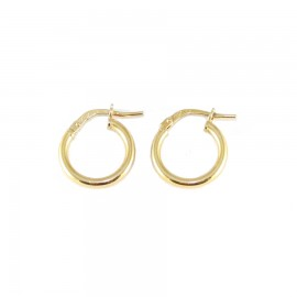 Sterling silver earrings ring gold plated 1344