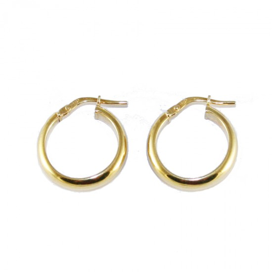 Sterling silver earrings ring gold plated 206