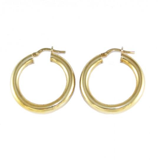 Σκουλαρίκια ασημένια κρίκοι επιχρυσωμένοι 415125