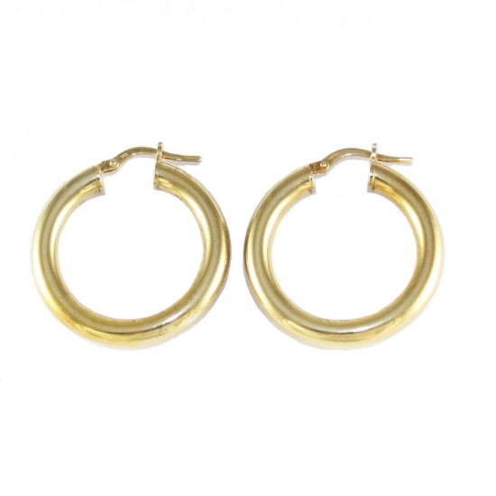 Sterling silver earrings ring gold plated 415125