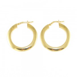 Sterling silver earrings ring gold plated  2758