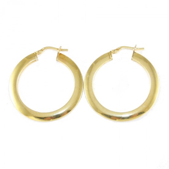 Sterling silver earrings ring gold plated 38115
