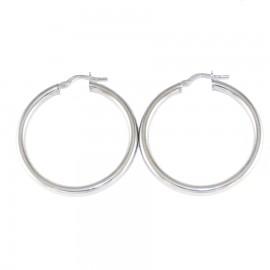 Sterling silver earrings ring platinum 4312